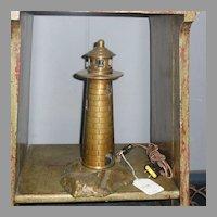 Cast Bronze Lighthouse Lamp - Night Light