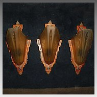 Markel Art Deco Slip Shade Wall Sconces - 4 available