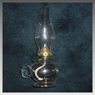 Lomax Kerosene Oil Finger Lamp dated 1870