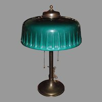 Emeralite Desk or Table Lamp with Green Cased Shade