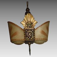 Beardslee Art Deco Slip Shade Pendant Light