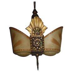 Beardslee Art Deco Slip Shade Pendant Light