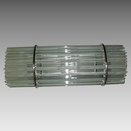 Mid Century Modern Chrome and Glass Rod Wall Light Fixture - 2 available