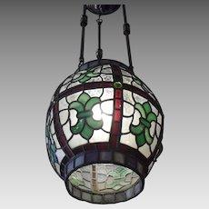 Victorian Leaded Glass Pendant Light