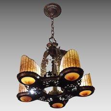 Williamson Art Deco 5 Light Chandelier