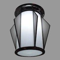 Art Deco Machine Age Ceiling Light Fixture