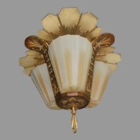 Beardslee Art Deco 3 Slip Shade  Ceiling Light Fixture