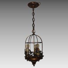 Spanish Revival 3 Light Bird Cage Pendant