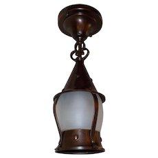 Tudor Interior or Exterior Copper and Brass Ceiling Light