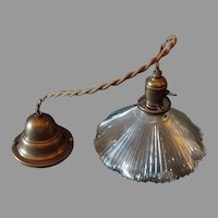 Franklin Glass Pendant Light with Brass Fixtures - 2 available