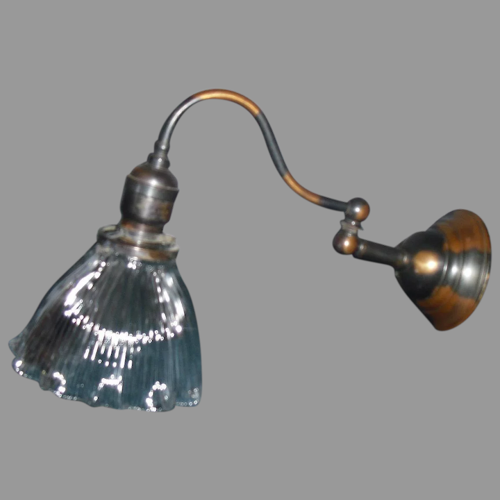 Wall Sconce With Holophane Shade