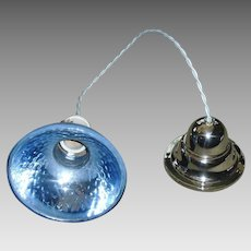 Blue Mercury Glass Pendant Light with Nickel Plated Fixture