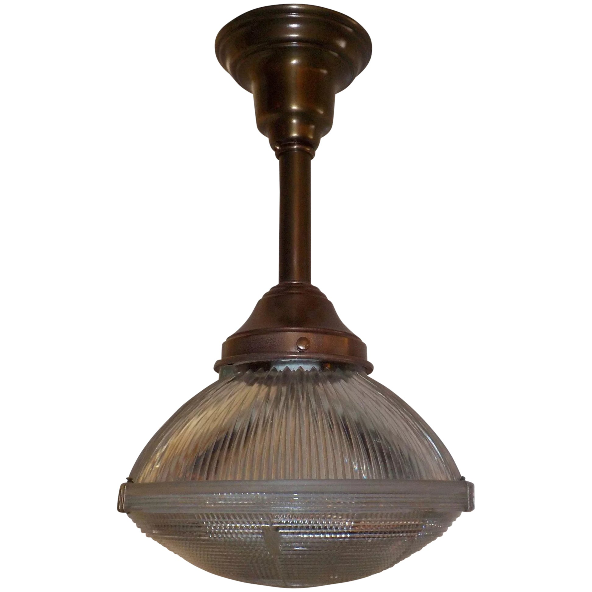 Holophane Clip Shade Pendant Light On Br Fixture 2 Available