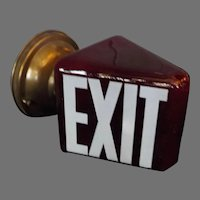 Antique Ruby Red Exit Light - Wall Mounted