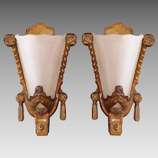 Art Deco Slip Shade Sconces - Marks MFG Co.