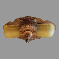 Sears Glen Falls Line Art Deco 2 Light Slip Shade Fixture
