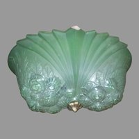 Art Deco, Martel by Gill, 2 Light Flush Mount Ceiling Fixture