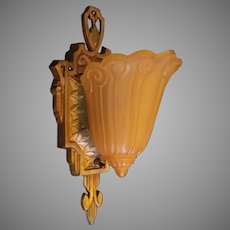 Pair - Lincoln Art Deco Slip Shade Sconces - 2 pair available