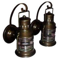 Antique Copper Marine / Nautical Style Porch Lights