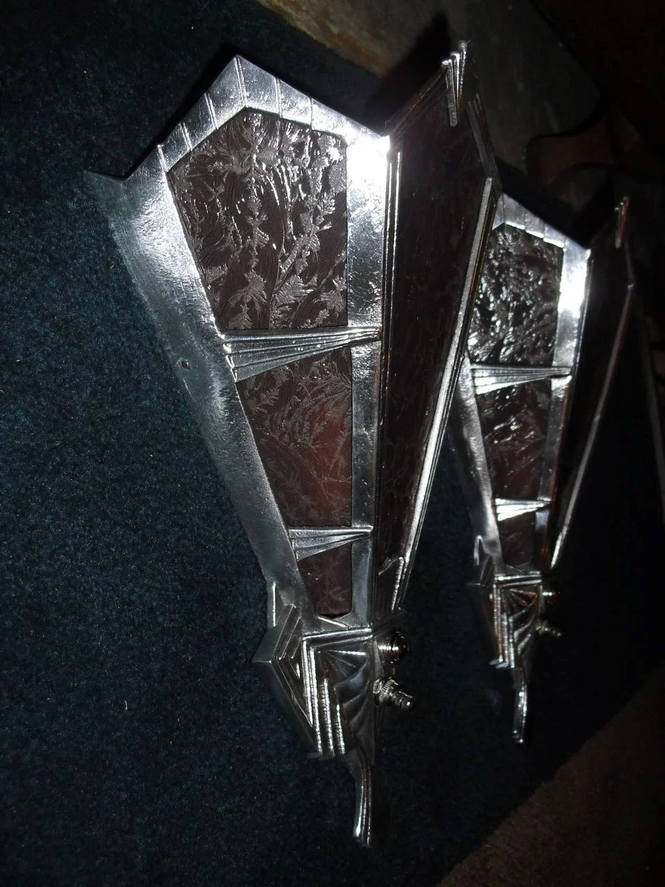 Oversized Art Deco Wall Sconces - Theater Lights ...
