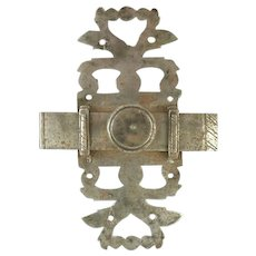 Antique French Steel Sliding Bolt Latch Architectural Lock