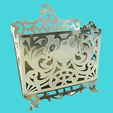 Antique Sterling Silver Letter Rack or Holder, Gorham C 1890