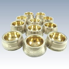 Coin Silver Salt Cellars with Gilt Lining Circa 1880