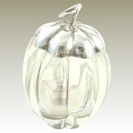 Antique Gorham Sterling Silver Lidded Glue Bottle or Pot with Brush, C. 1880