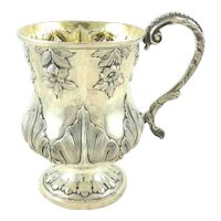 Antique English Sterling Silver Christening Cup or Mug,  William IV Period