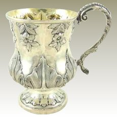 Antique English Sterling Silver Christening Mug William IV Period