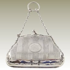 Antique Sterling Silver Coin Purse Late Edwardian
