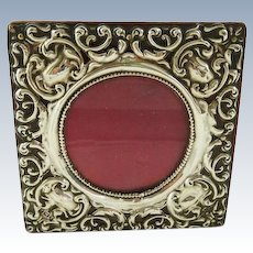 Antique English Sterling Silver Picture/Photo Frame Birmingham 1905 Edwardian Era