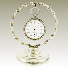 Sterling Silver Pocket Watch Holder / Stand  by Whiting