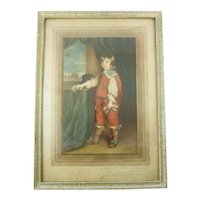 Mezzotint of Young Boy Signed by Samuel Arlent Edwards