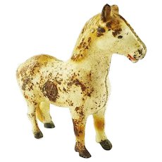 Antique Cast Iron  Bank Horse  Animal Coin Bank with Turn Pin