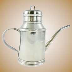 Sterling Silver Olive Oil Jug or Pitcher Italian Silver 925