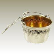 Antique French Silver Tea Strainer Basket 1st Standard 950 Silver Tea Pot Spout