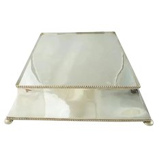 Antique English Silver Plateau Cake Stand, Large Table Centerpiece