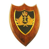 English Oak Shield Crest for Royal Navy Crown & Anchor