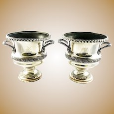 Old Sheffield Plate Wine Champagne Coolers A Pair 19th Century