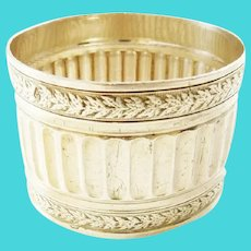 Antique French Silver Napkin Ring Neoclassical Design