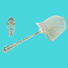 Puiforcat Sterling Silver Asparagus or Pastry Server, Armorial