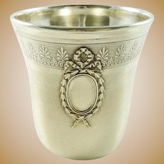 Antique French Sterling Silver Wine Cup Timbale or Beaker  By Émile Puiforcat