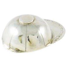 Georgian Sterling Silver Tea Caddy Spoon , Figural Jockey's Cap