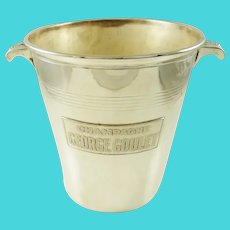 Mid-Century French Silver Plate Champagne Bucket Wine Cooler George Goulet