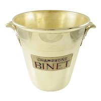 Mid-Century French Silver Plate Champagne Bucket Wine Cooler