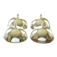 French Silver Plate Food Serving Domes or Cloche, Set of Four