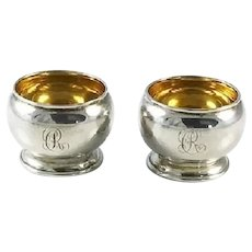 Antique Sterling Silver Salt Cellars by Tiffany & Co