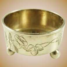 Antique Sterling Silver Salt Cellar by Tiffany & Co Ivy and Vine Motif