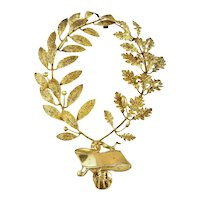 French Silver & Vermeil Decorative Award or Trophy